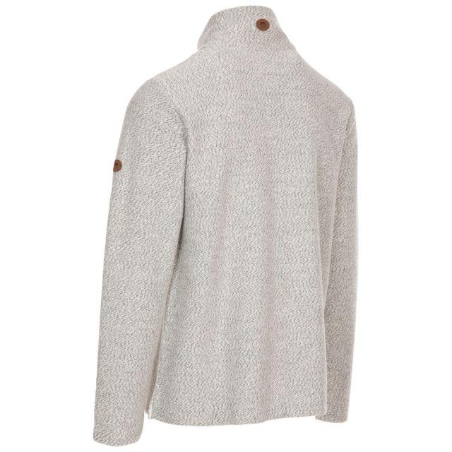 Trespass Men's Casual 1/2 Zip Fleece Taddingley Off White