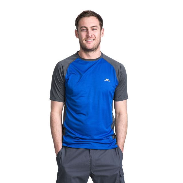 Talca Men's Quick Dry Active T-Shirt in Blue