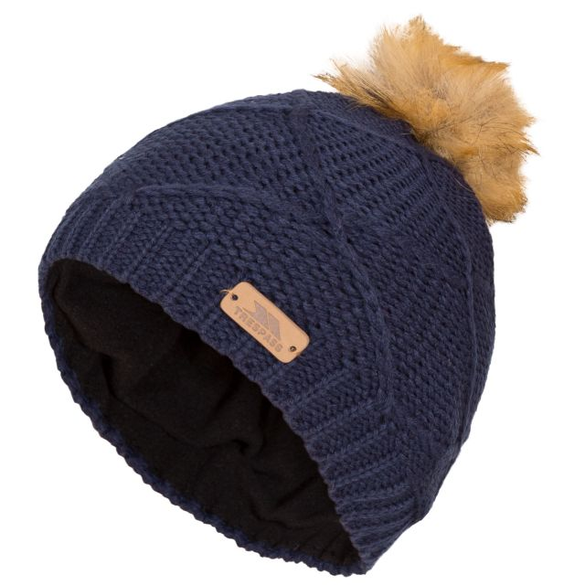 Tanisha Kids' Bobble Hat in Navy