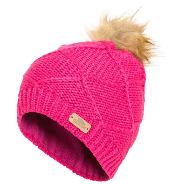 Tanisha Kids' Bobble Hat in Pink