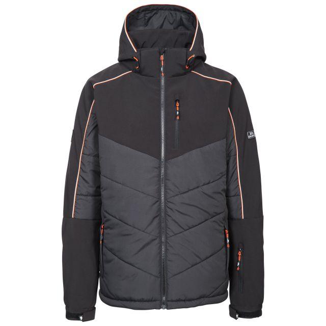 Taran Men's Comfort Stretch Windproof Ski Jacket in Black