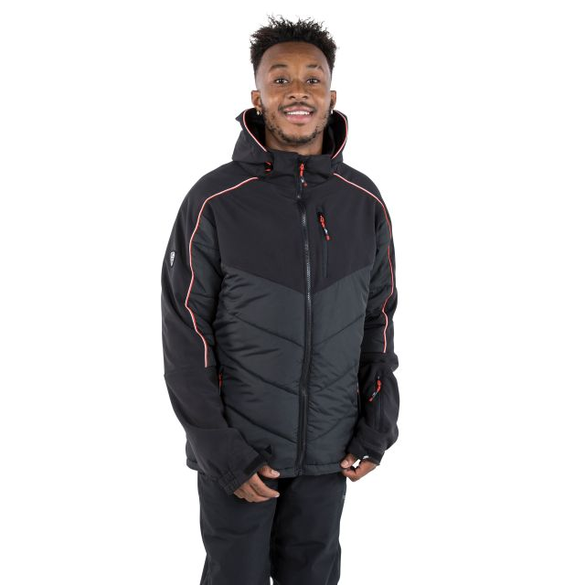 Taran Men's Comfort Stretch Windproof Ski Jacket - BLK