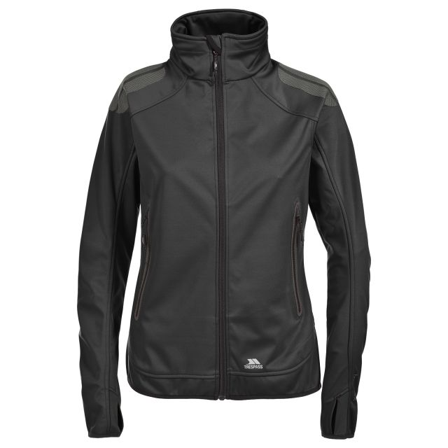 Taut Women's Softshell Jacket in Black