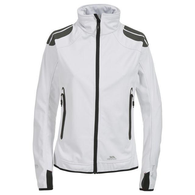 Taut Women's Softshell Jacket in White