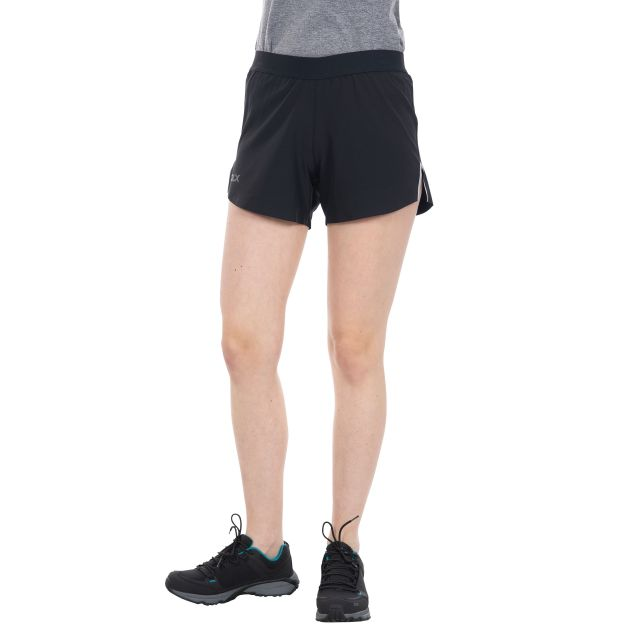 Tempos Women's DLX Quick Dry Track Shorts in Black