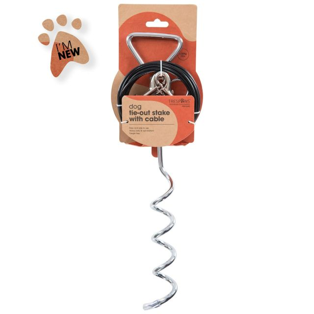 Trespaws Dog Tether and Tie Out Cable in Assorted