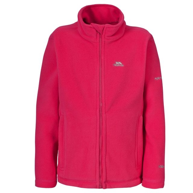 Teviot Kids' Full Zip Fleece Jacket in Pink