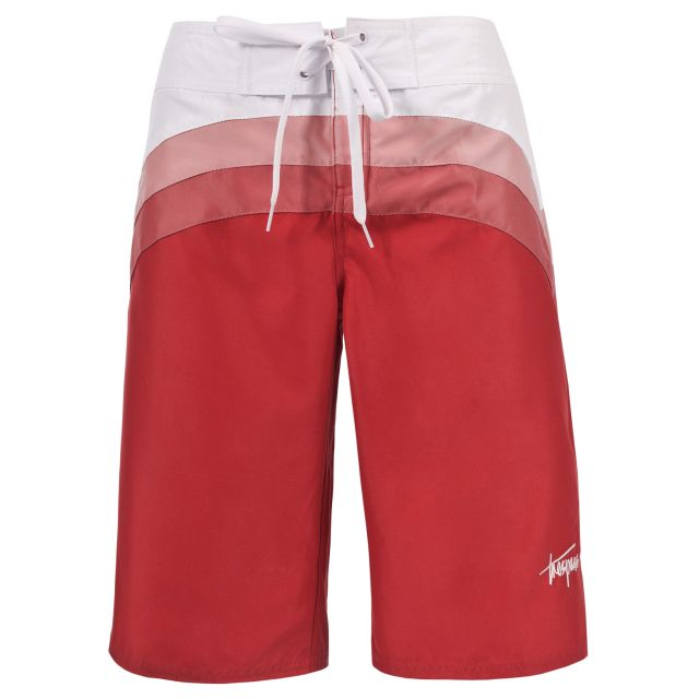Thea Womens Board Shorts in Red