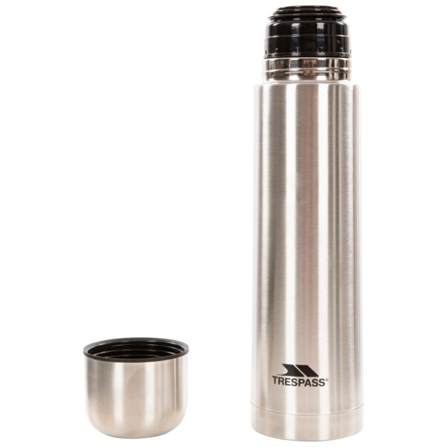 Stainless Steel Flask 1L in Light Grey