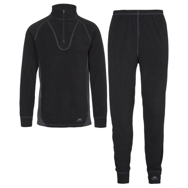 Thriller B Adults Thermal Base Layer Set in Black