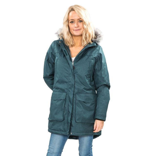 Thundery Women's Waterproof Parka Jacket in Teal