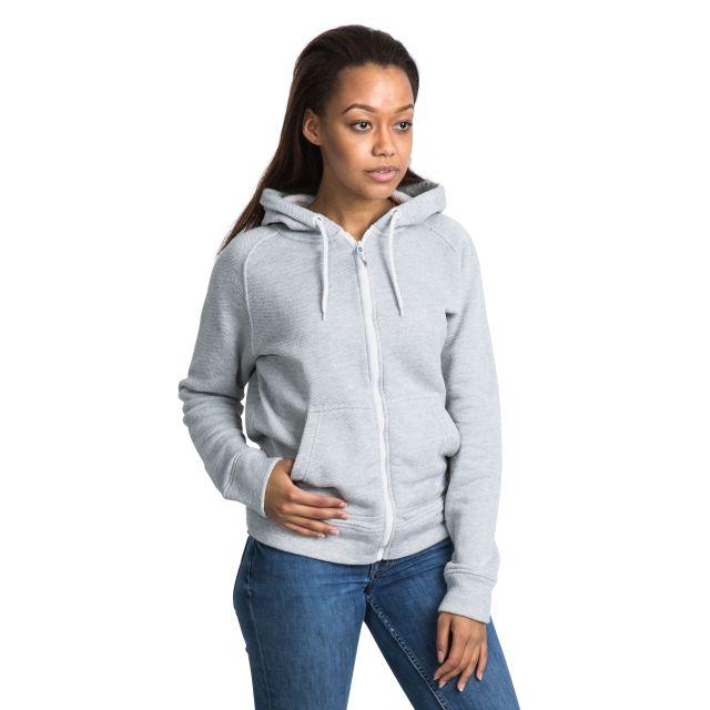 Thurman Women's Fleece Hoodie in Light Grey