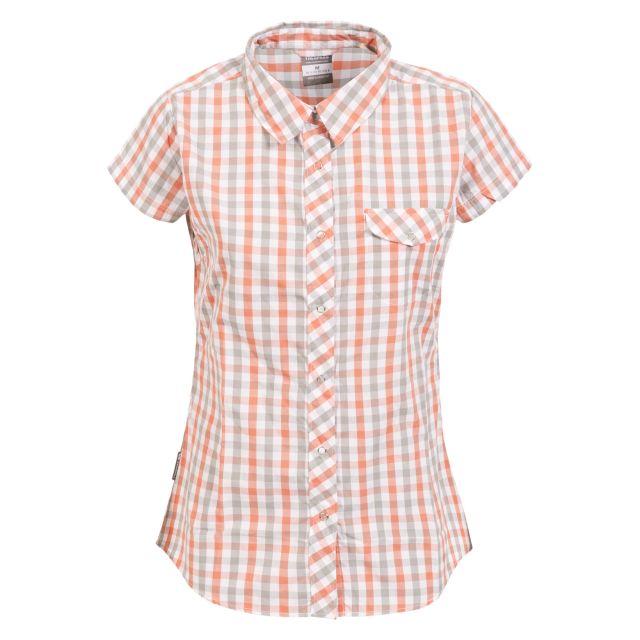 Tilley Women's Short Sleeve Checked Shirt - BHK