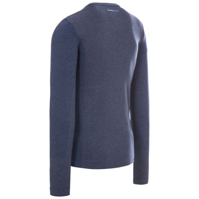 Timo Men's Long Sleeve Active Top in Navy