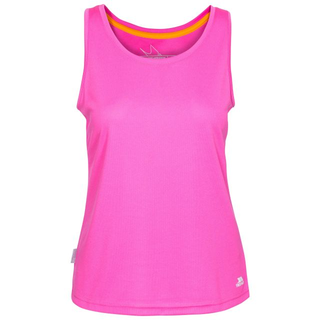 Tissy Women's Sleeveless Active T-Shirt in Pink