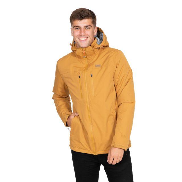 Toffit Men's Hooded Waterproof Jacket in Beige