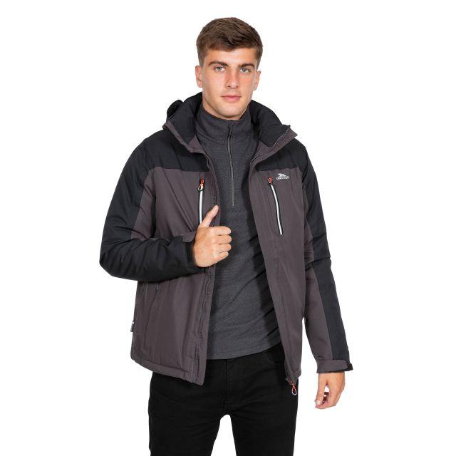 Tolsford Men's Hooded Waterproof Jacket in Grey