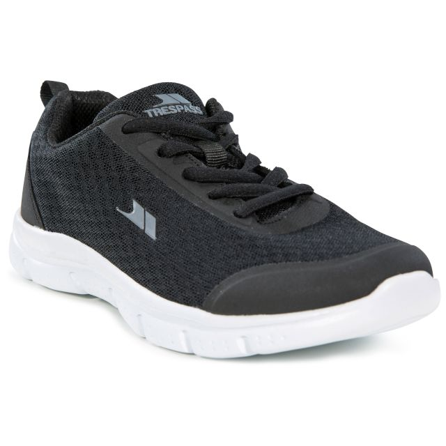 Tracking Kids' Memory Foam Trainers - BLK