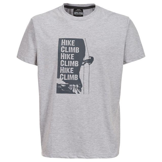 Tramore Mens Printed Casual T-Shirt in Light Grey