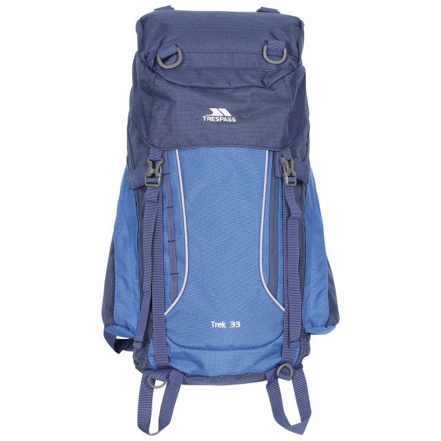 Trek 33L Rucksack in Electric Blue