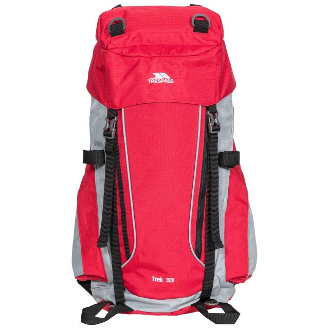 Trek 33L Rucksack in Red Tone