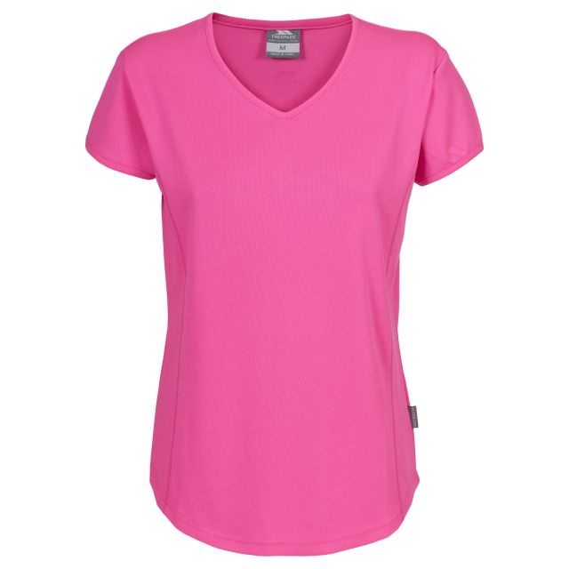 TRICKLE Womens Quick Dry Active T-shirt in Pink