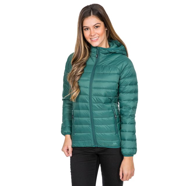 Trisha Women's Down Packaway Jacket in Green