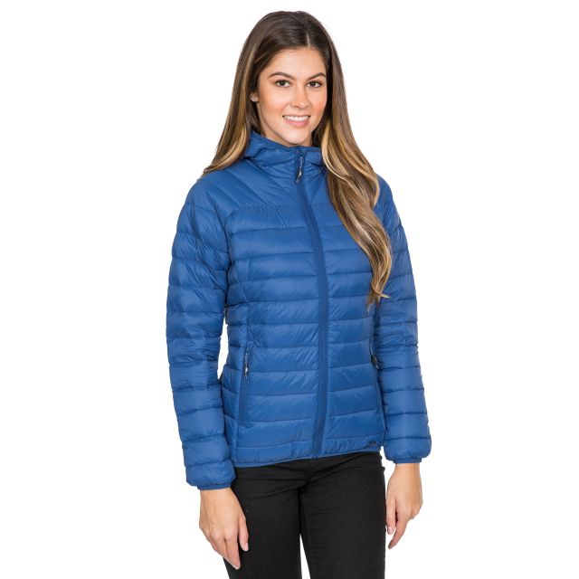 Trisha Women's Down Packaway Jacket in Blue