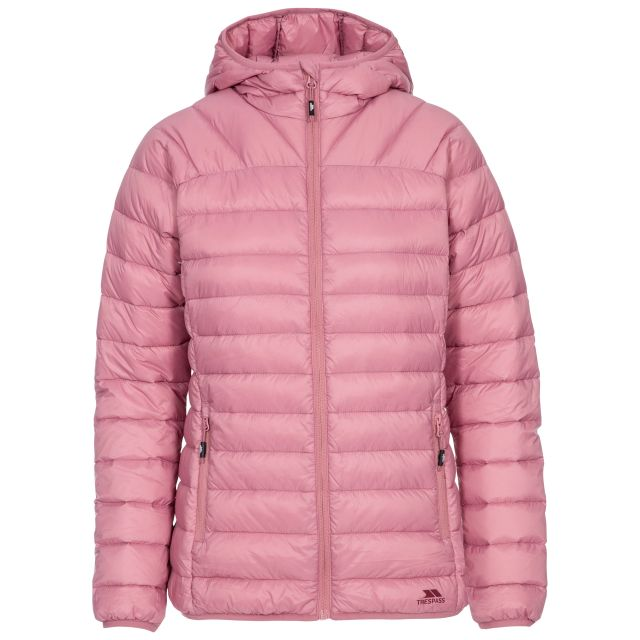 Trisha Women's Down Packaway Jacket in Pink