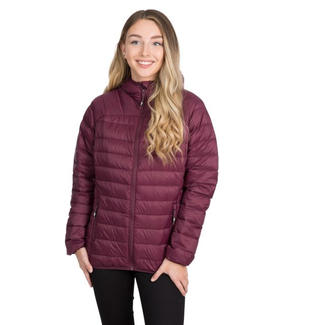 Trisha Women's Down Packaway Jacket in Purple