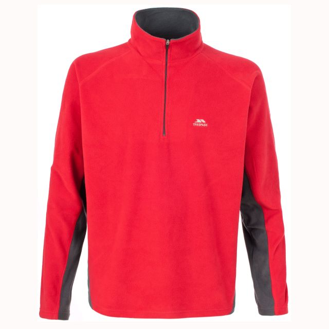 Tron Men's 1/2 Zip Microfleece in Red
