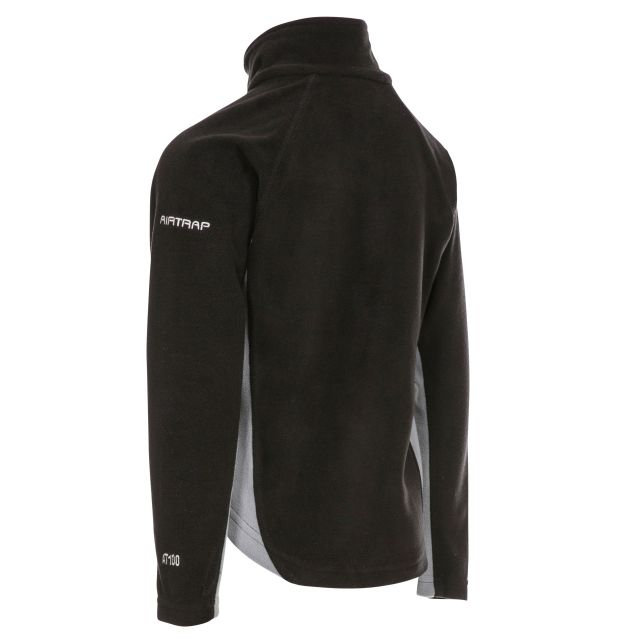 TRON Kids' Half Zip Fleece in Black
