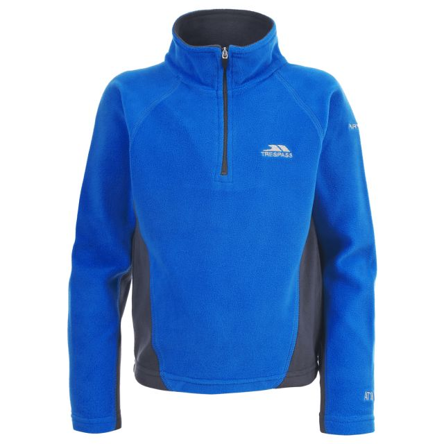 TRON Kids' Half Zip Fleece in Blue