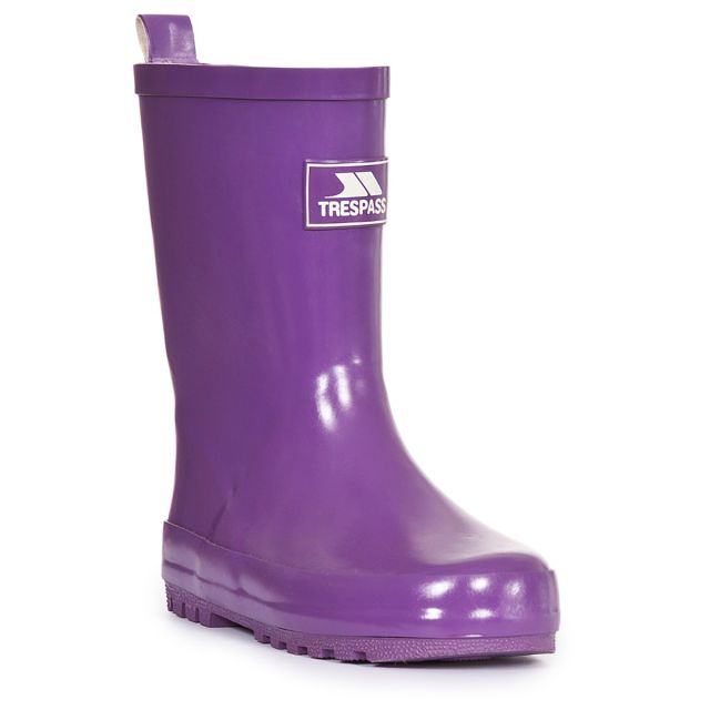 Trumpet Kids' Purple Wellies
