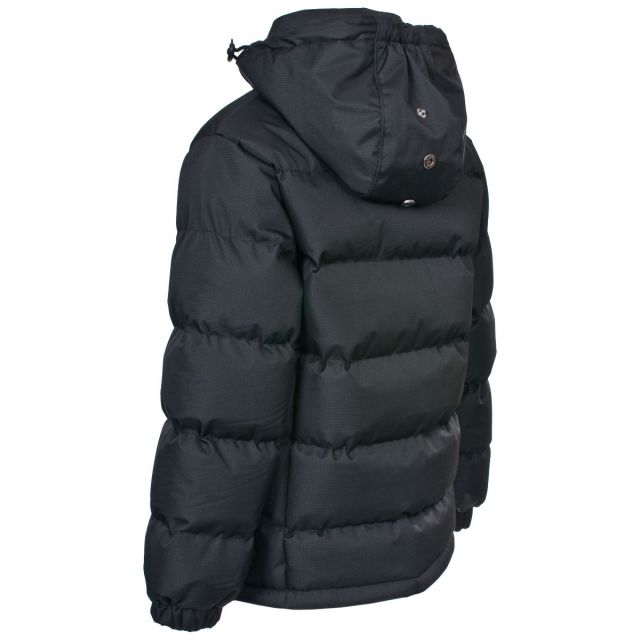 Tuff Boys' Padded Casual Jacket in Black