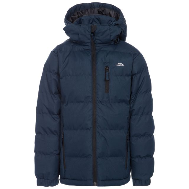 Tuff Boys' Padded Casual Jacket in Navy
