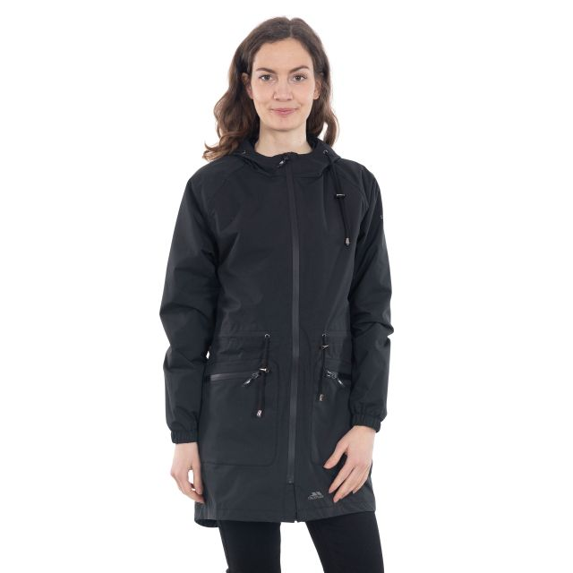 Tweak Women's Long Length Waterproof Jacket in Black