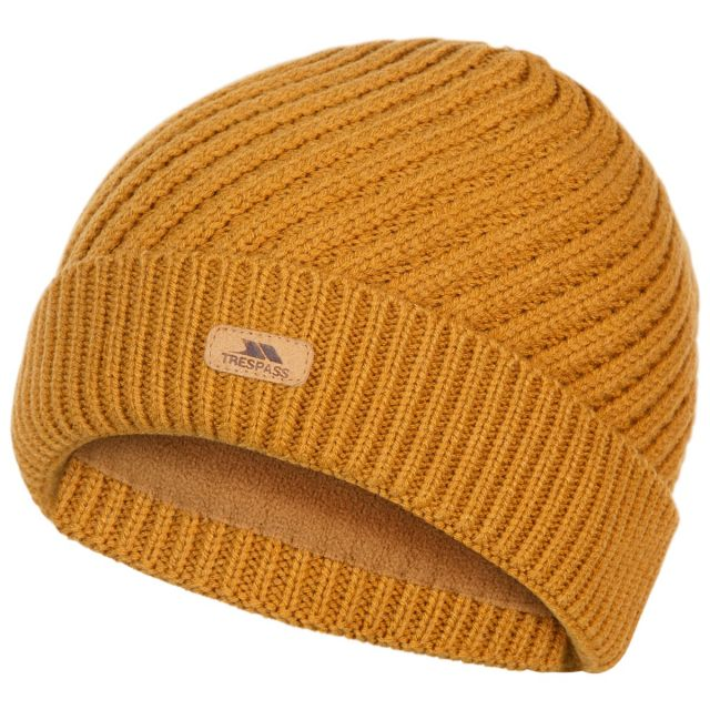 Twisted Women's Knitted Beanie in Yellow