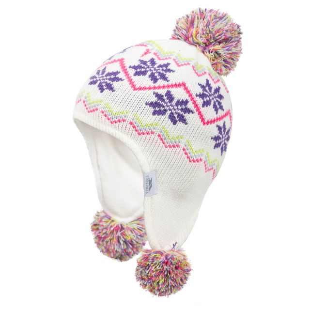 Twizzle Babies Ear Warmer Hat in White