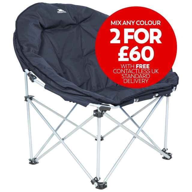 Tycho Padded Camping & Garden Folding Moon Chair - NA1