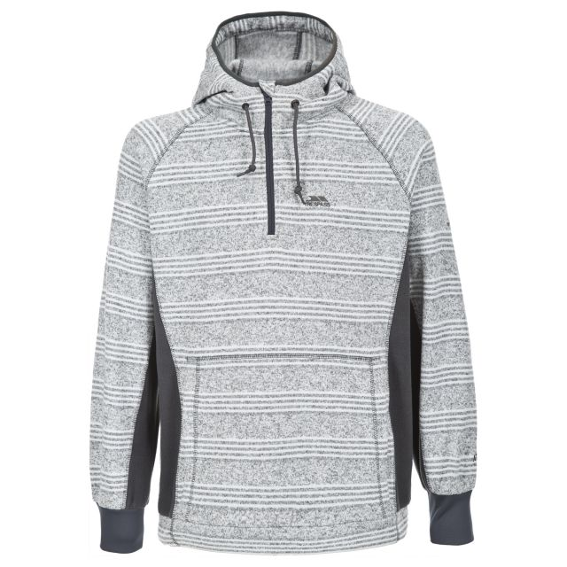 Tyson Men's 1/2 Zip Hooded Fleece in Light Grey
