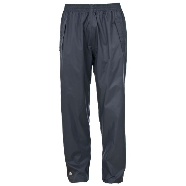 Qikpac Adults' Packaway Waterproof Trousers in Grey