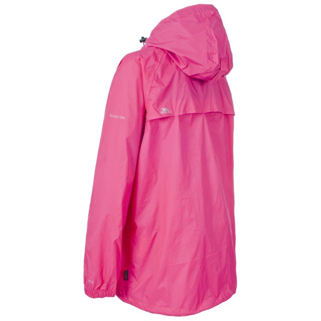 Qikpac Unisex Waterproof Packaway Jacket in Pink