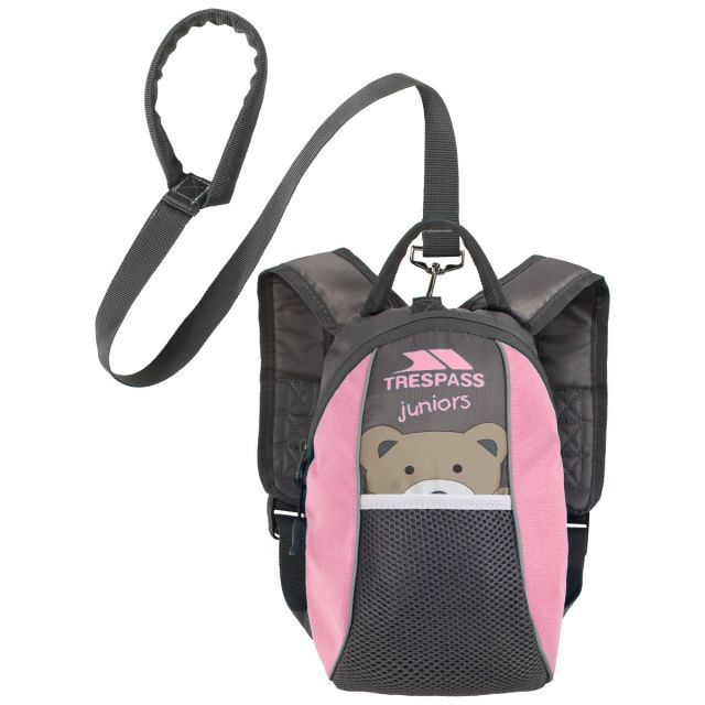 Mini Me Toddlers' 3L Backpack with Reins in Light-Pink