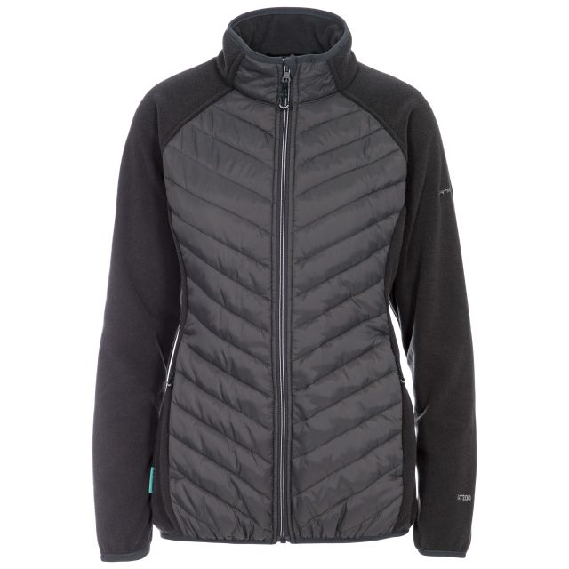 Underpinned Women's Quilted Fleece Jacket in Grey