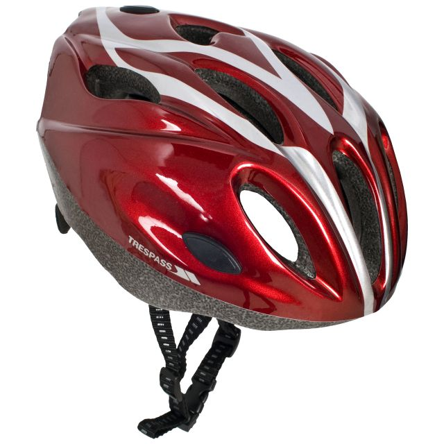 Tanky Red Kids' Bike Helmet in Red