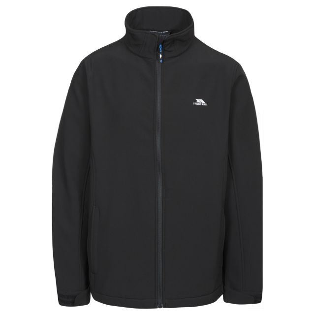 Vander Men's Softshell Jacket in Black