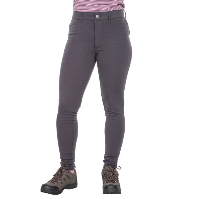 Vanessa Womens Water Resistant Technical Leggings in Dark Grey