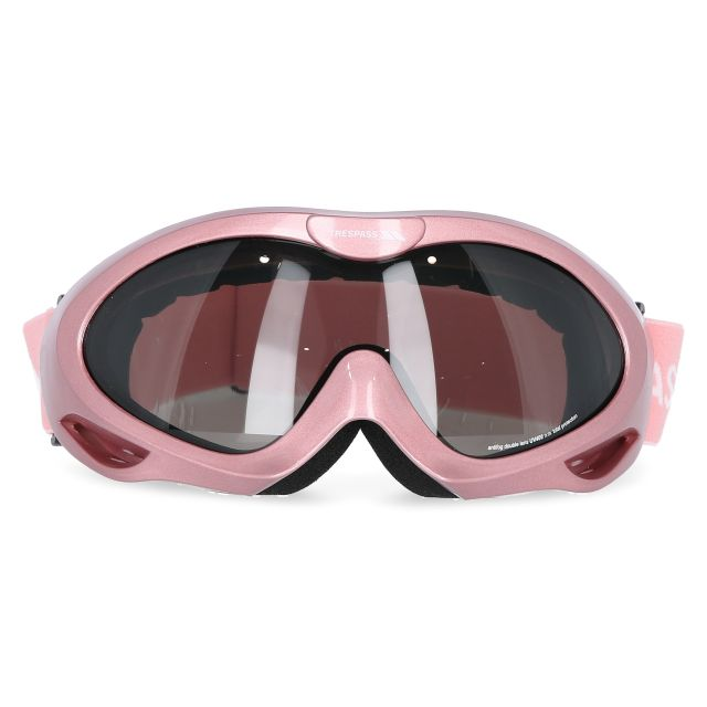 Vanir Adults' Double Lens Goggles in Light Pink, Front view