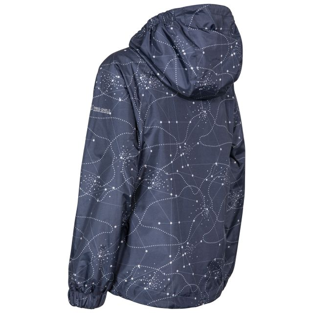 Vilma Kids' Printed Waterproof Jacket in Navy